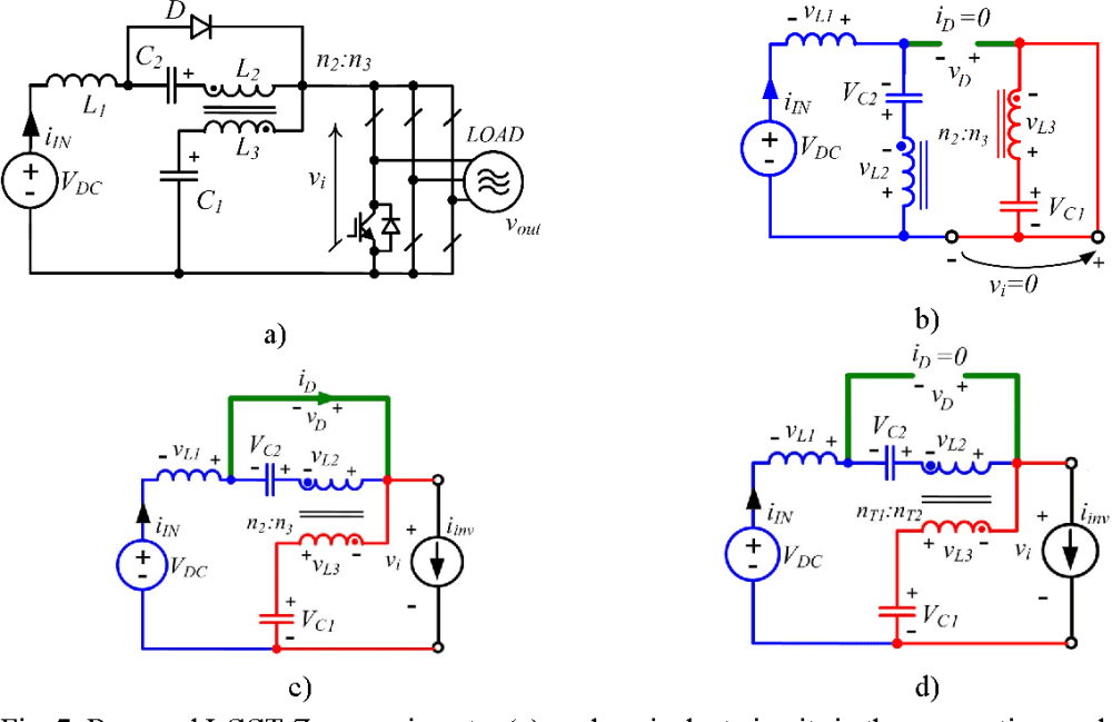 medium resolution of 7 proposed lcct z source inverter a and