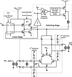 schematic of an et cmos pa with a supply modulator  [ 944 x 996 Pixel ]