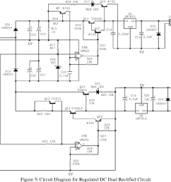 figure 5 circuit diagram for regulated dc dual rectified circuit [ 1210 x 1046 Pixel ]