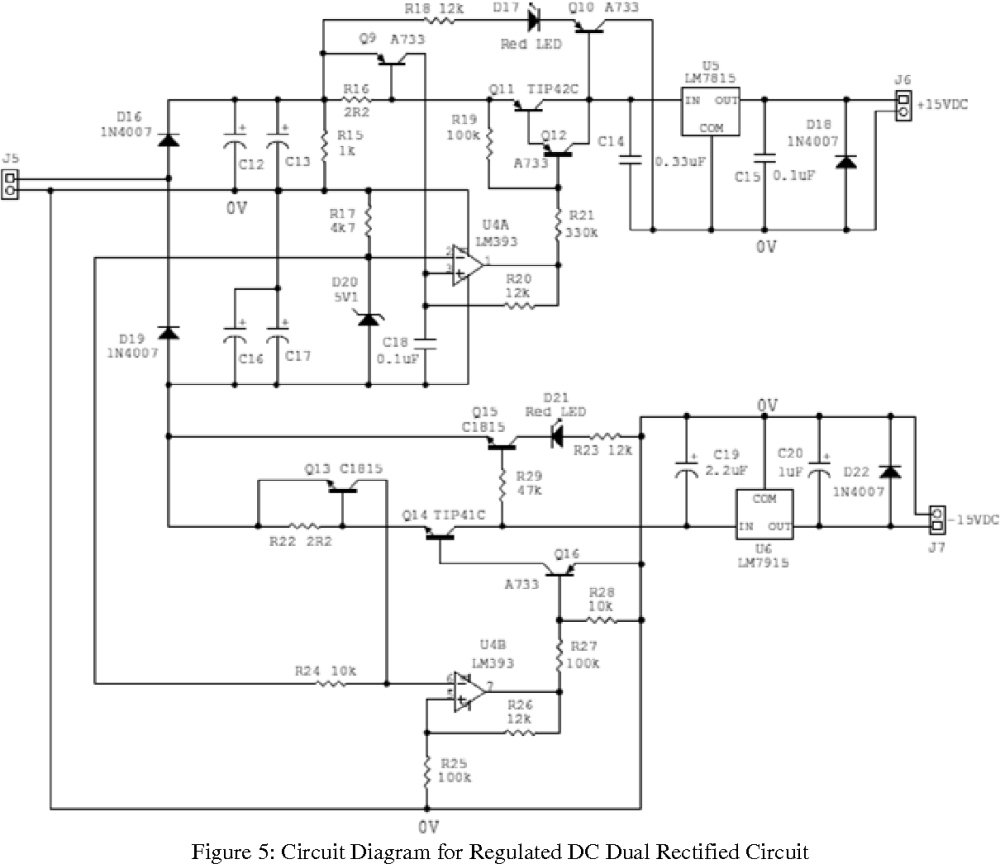 medium resolution of figure 5 circuit diagram for regulated dc dual rectified circuit