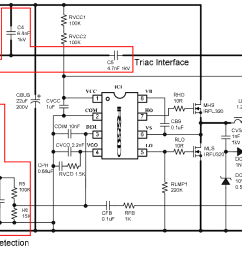 schematic of proposed triac dimmable cfl ballast [ 1270 x 656 Pixel ]