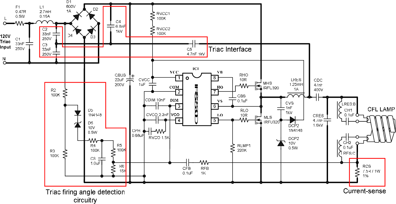 hight resolution of schematic of proposed triac dimmable cfl ballast