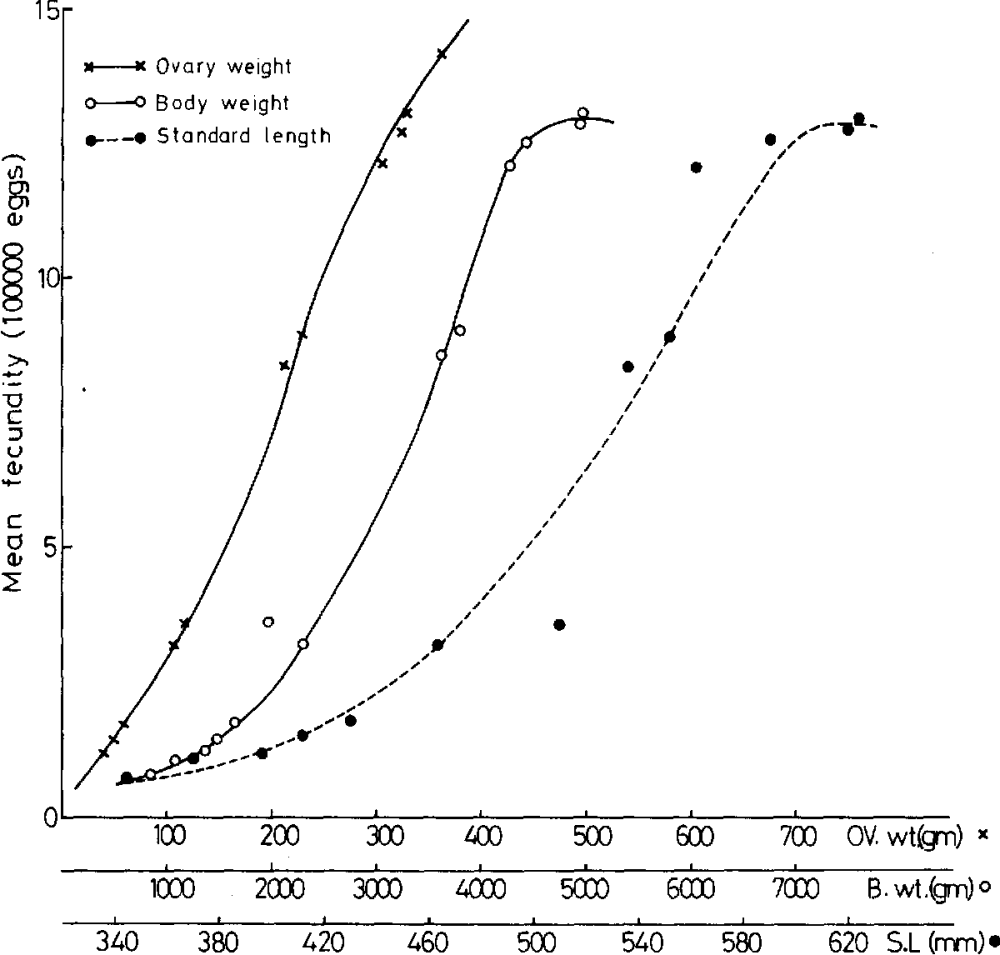 medium resolution of fig 2 correlation of fecundity of barbus bynni with standard length body weight