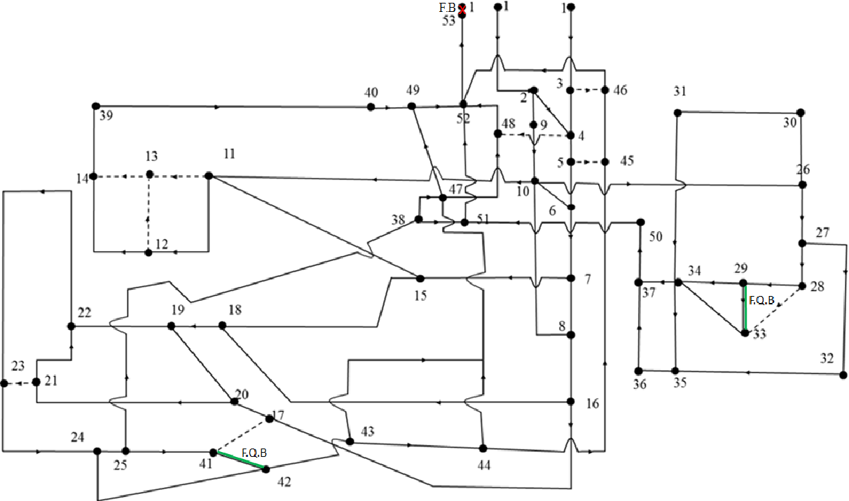 hight resolution of simplified ventilation network diagram of a coal mine