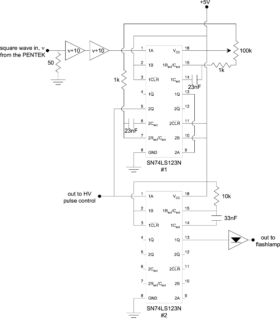 hight resolution of schematic diagram of the timing circuitry for the dynamics experiment