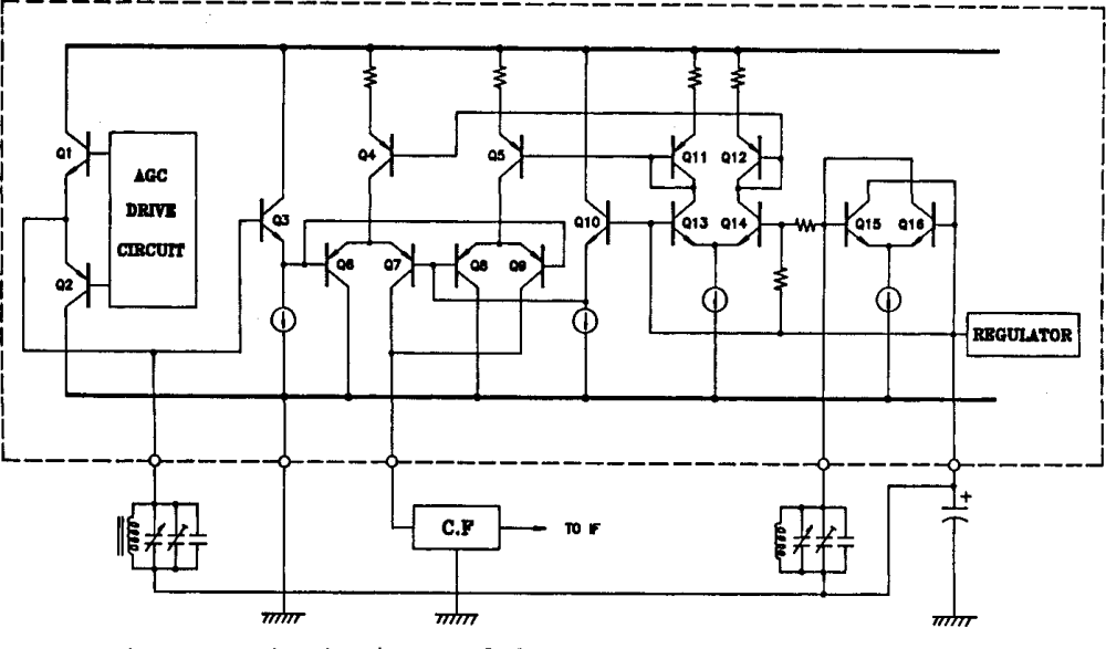 medium resolution of figure 10 from a complete single chip am fm radio integrated circuit figure 10 circuit diagram
