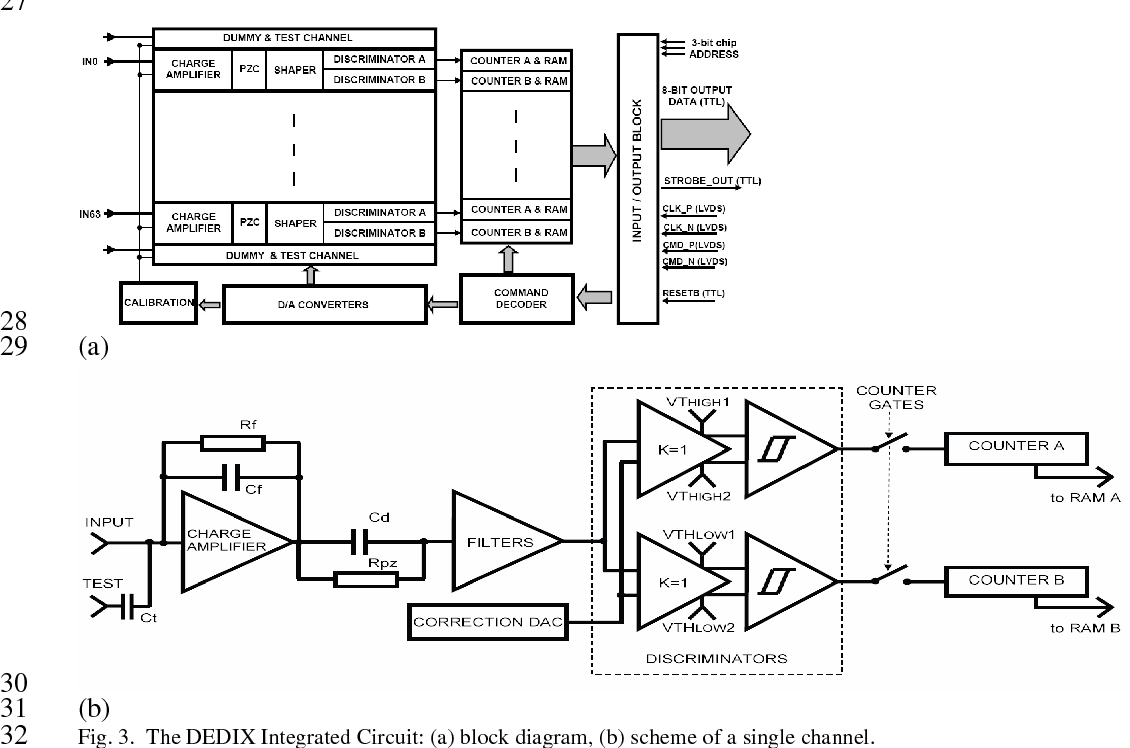 hight resolution of the dedix integrated circuit a block diagram