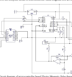 figure 8 circuit diagram of microcontroller based electro magnetic pulse therapy instrument  [ 1192 x 824 Pixel ]