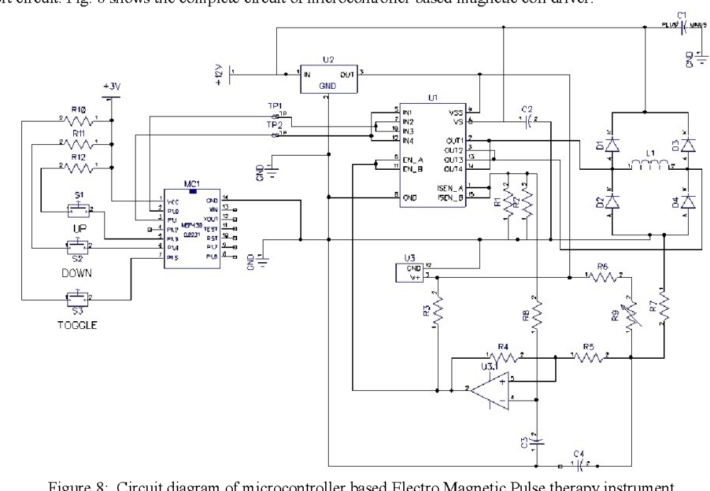 medium resolution of figure 8 circuit diagram of microcontroller based electro magnetic pulse therapy instrument