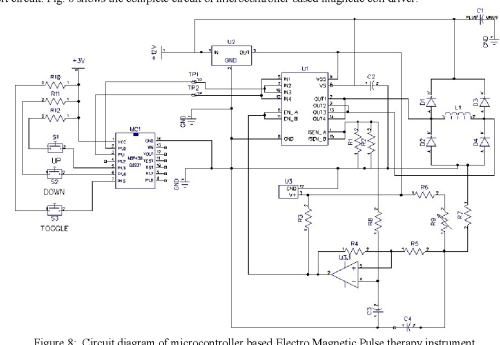 small resolution of figure 8 circuit diagram of microcontroller based electro magnetic pulse therapy instrument