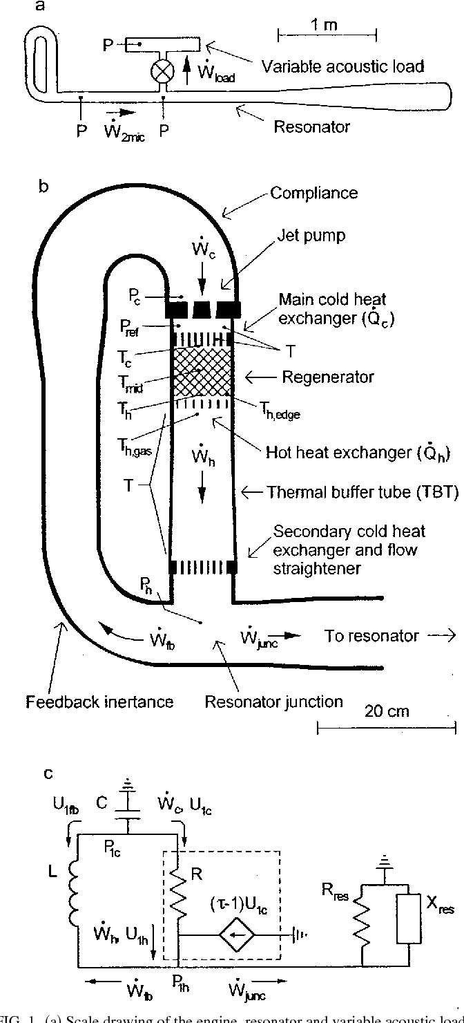 hight resolution of scale drawing of the engine resonator and variable