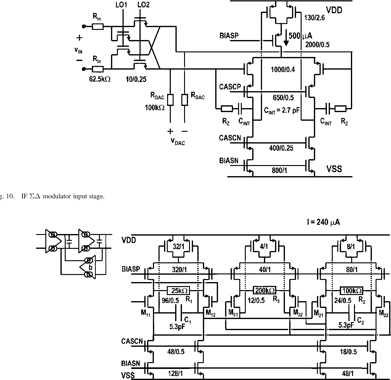 hight resolution of fig 10 if modulator input stage