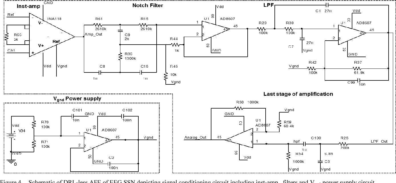 hight resolution of schematic of drl less afe of eeg ssn depicting signal conditioning circuit
