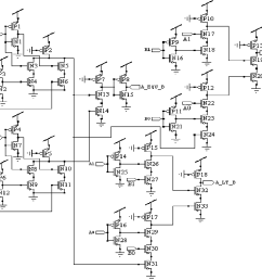schematic of 2 bit magnitude comparator using pseudo nmos logic style [ 1160 x 1014 Pixel ]