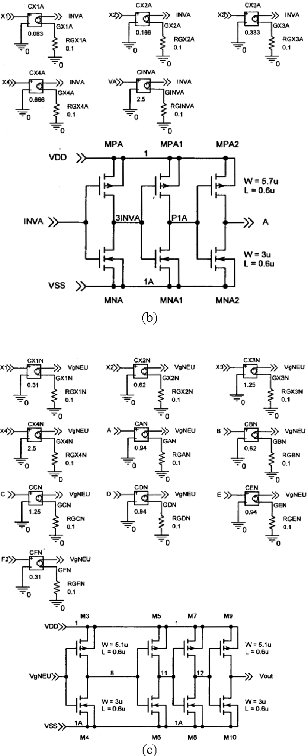 hight resolution of schematic diagram of the universal circuit used for logic gates configured with