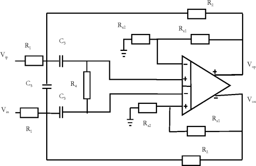small resolution of figure 3 10 band pass filter circuit diagram using fdda