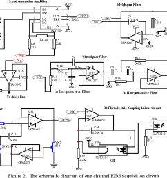 the schematic diagram of one channel eeg acquisition circuit [ 1410 x 764 Pixel ]