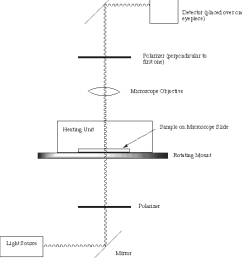 figure 3 4 schematic of the polarizing microscope used to obtain data for phase diagram measurements [ 1014 x 1142 Pixel ]