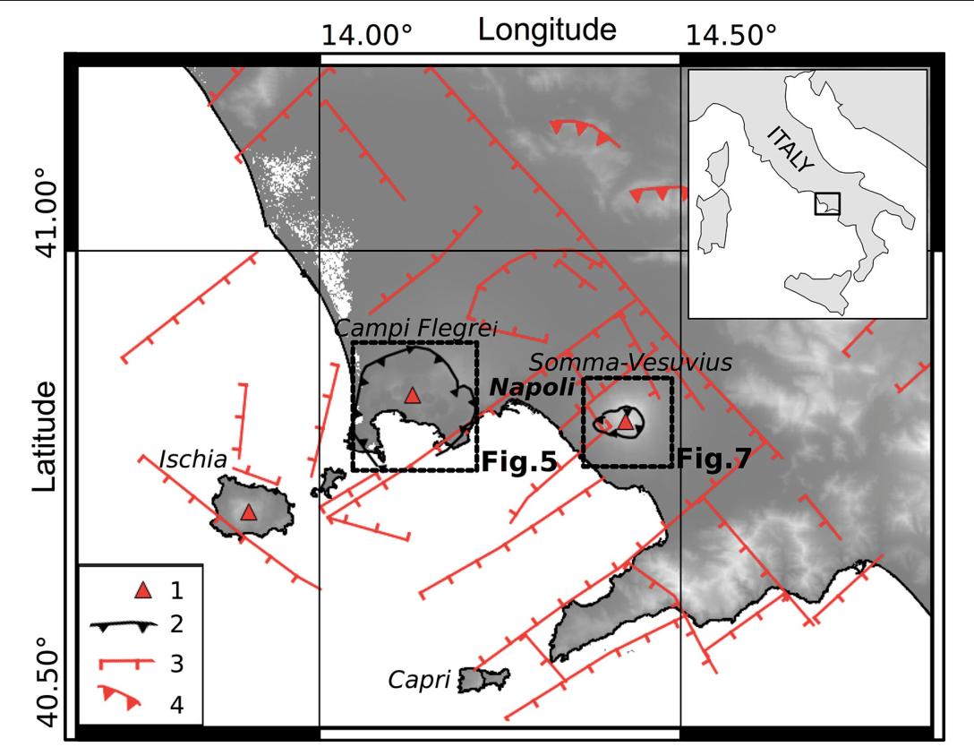 hight resolution of figure 4 tectonic setting of the campi flegrei vesuvius area 1