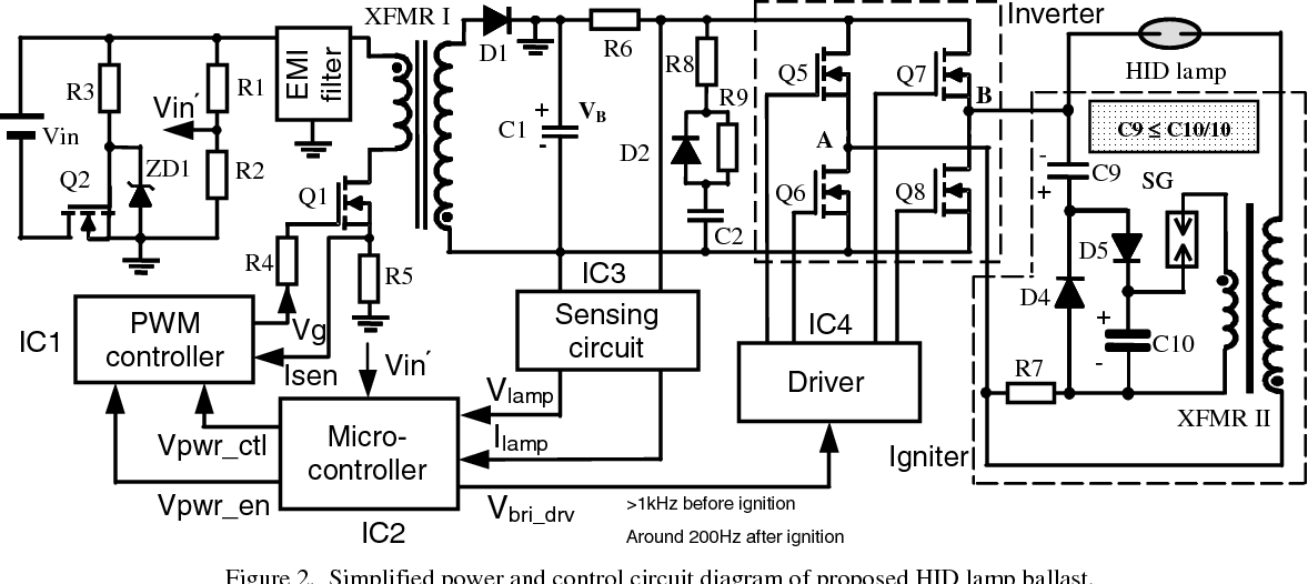 Discharge Lamp Circuit. Cheap Luxmeter Luxmeter Circuit