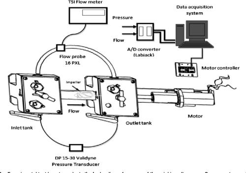 small resolution of experimental test loop to evaluate the hydraulic performance of the axial impeller pump