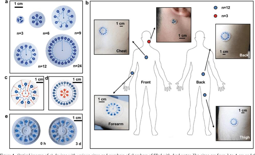 medium resolution of thin soft skin mounted microfluidic networks with capillary bursting valves for chrono sampling of sweat semantic scholar
