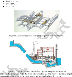 typical low head run of river hydropower plant schematic [ 1160 x 1374 Pixel ]