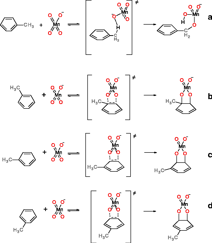 Figure 1 from A DFT study of permanganate oxidation of