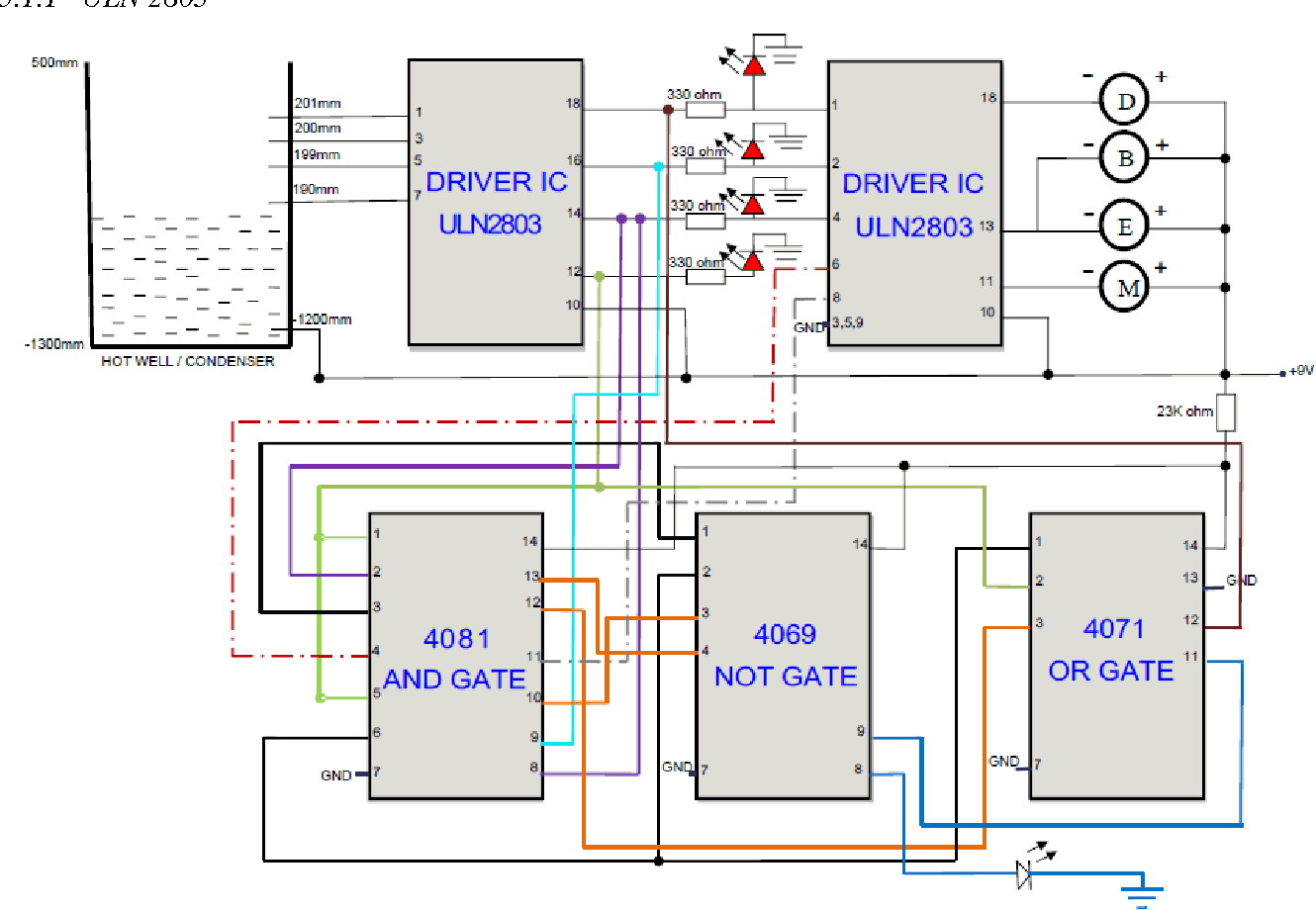 hight resolution of proposed hot well level control system circuit diagram