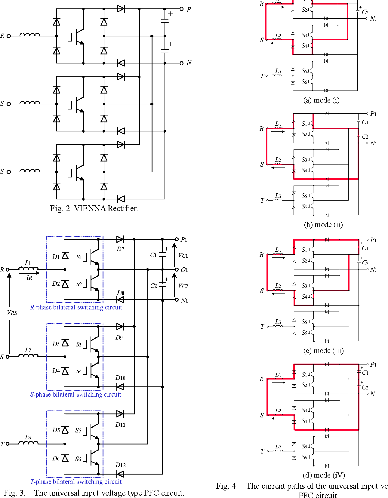 hight resolution of the current paths of the universal input voltage type pfc circuit