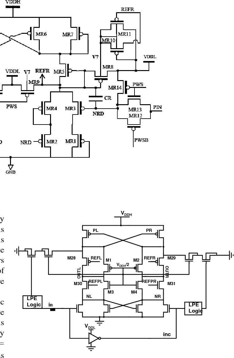 hight resolution of schematic for the proposed level shifter