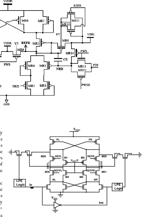small resolution of schematic for the proposed level shifter