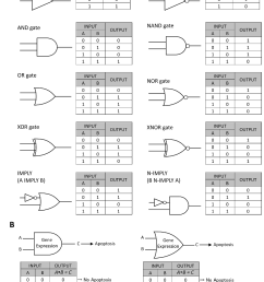 a traditional symbols and truth table of boolean logic gates are [ 1100 x 1430 Pixel ]