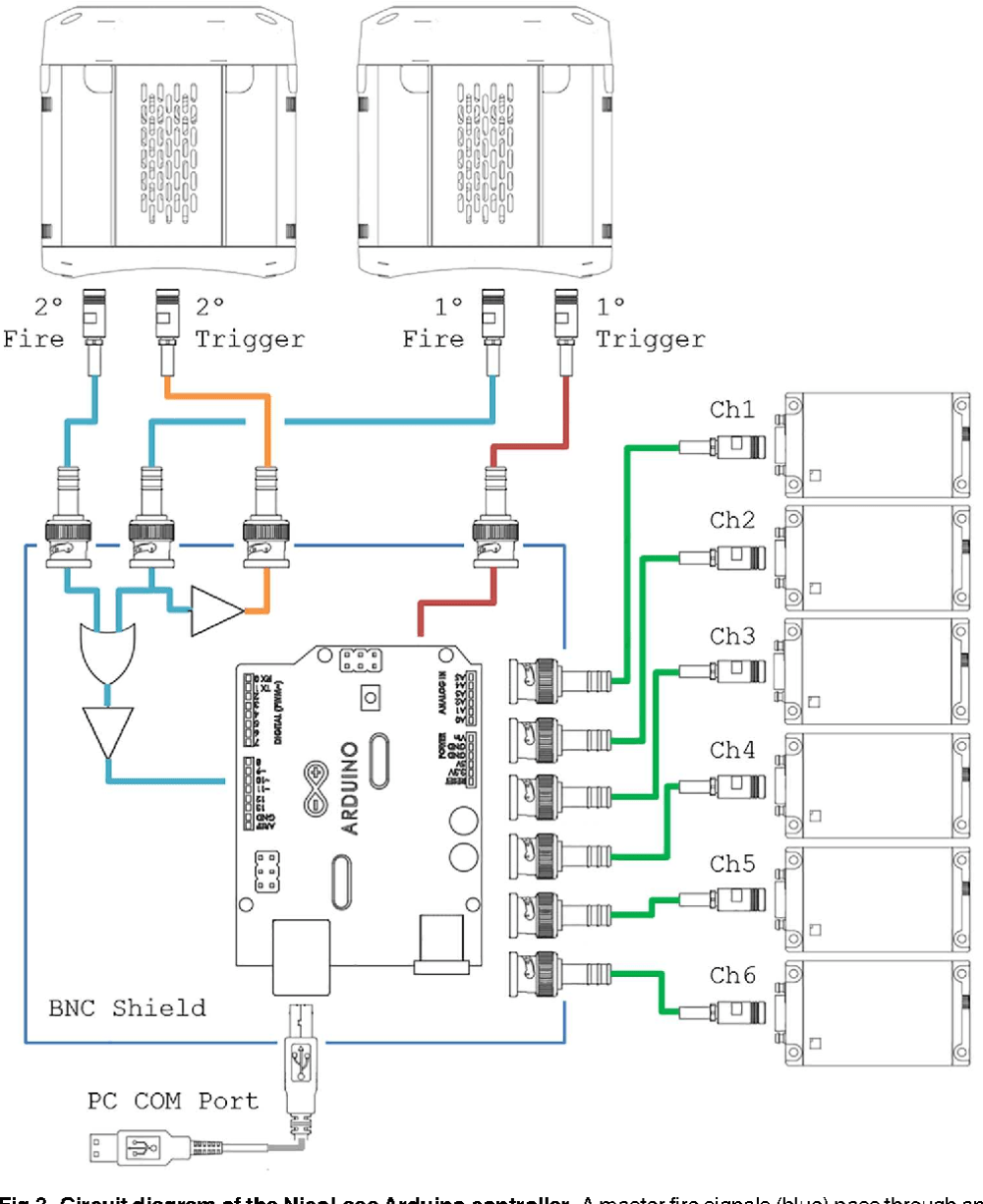medium resolution of circuit diagram of the nicolase arduino controller a master fire signals