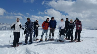 The group at about 9000 feet!