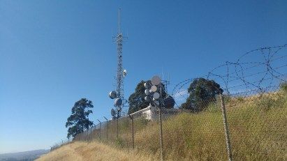 There's an FM broadcast tower here.