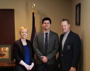 Grace Heiland, Kyle Solyak, Senator Ryan Aument