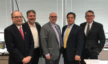 Rick Beattie, Marc Mondor, Larry Fabbroni, Senator Jay Costa, Chip Desmone
