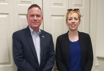 Representative Dave Hickernell, Grace Heiland