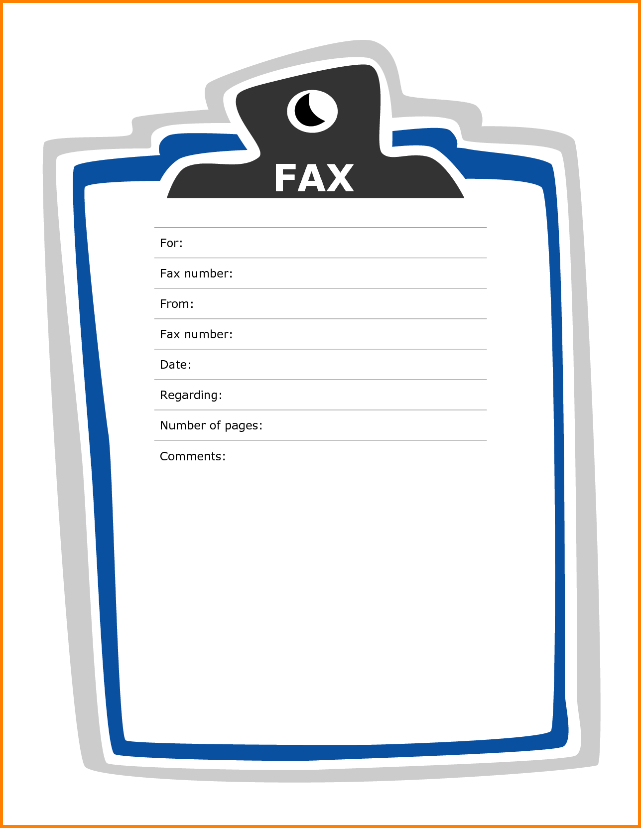 Fax Cover Sheet Word PDF Printable Template