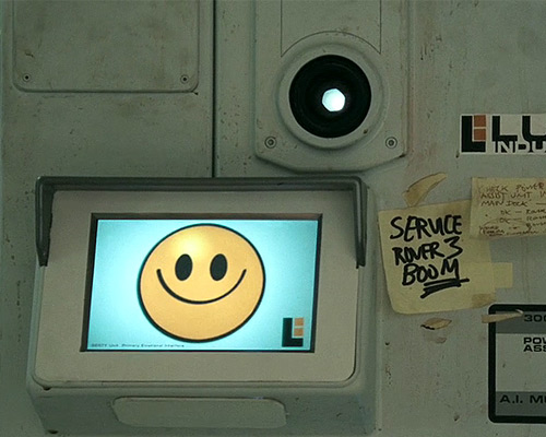 A screengrab of Gerty, an AI character from the film Moon. A good example of conversational AI in action.