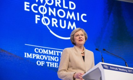 Embattled UK PM Theresa May was criticized for focusing on AI in her Davos speech at the expense of Brexit negotiations [Click for more]