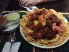 A main course of all sorts of lovely Arab cuisine