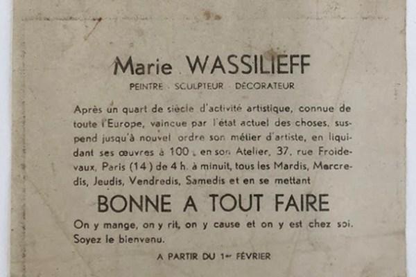 Nous sommes tout·es des Marie Vassilieff #bonneatoutfaire