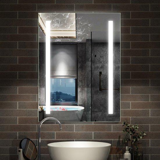 miroir lumineux led 80x60cm miroir de salle de bain anti buee tzby j 1202 aica grand choix au petit prix paroi de douche choulissants porte de