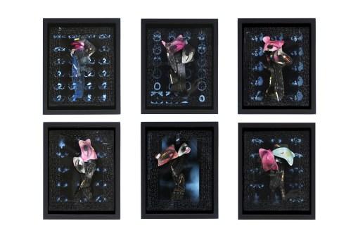 Portraits sans visage Ernest Breleur Radiographies, photographies, agrafes – 2005 – photo Jean-Philippe Breleur