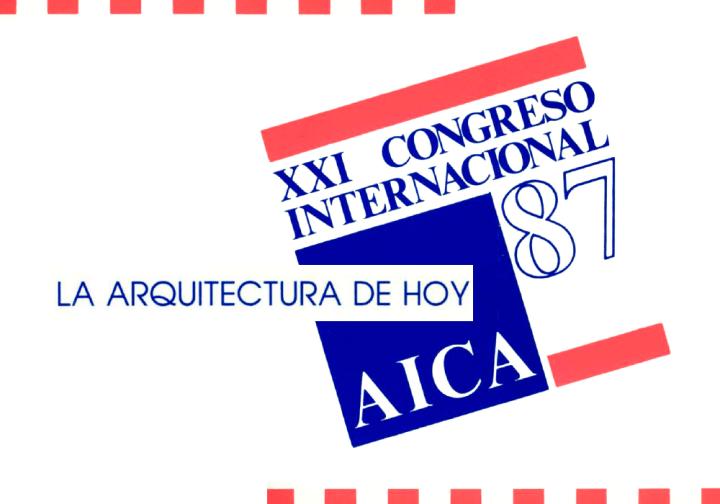 XXI Congreso Internacional AICA '87