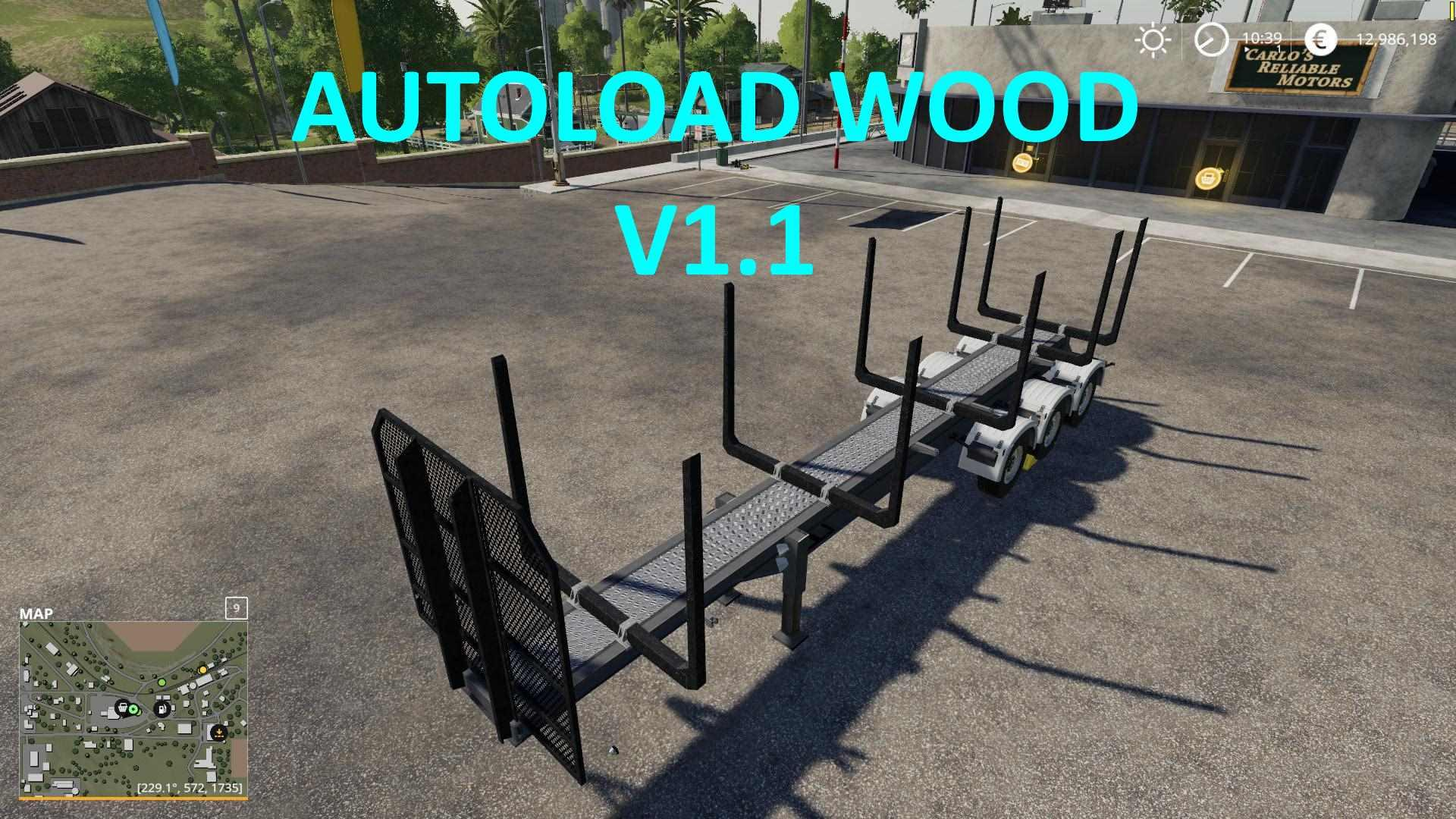 FS19 Mods TIMBER RUNNER WIDE WITH AUTOLOAD WOOD - Ai Cave