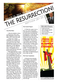 3.31.2013 - Matthew 28:1-20 - The Resurrection! (Pastor Brian)