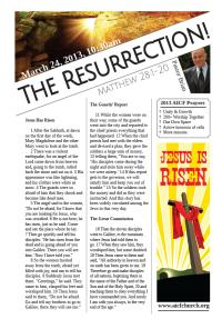 3.31.2013 - Matthew 28:1-20 - The Resurrection! (Pastor Brian)